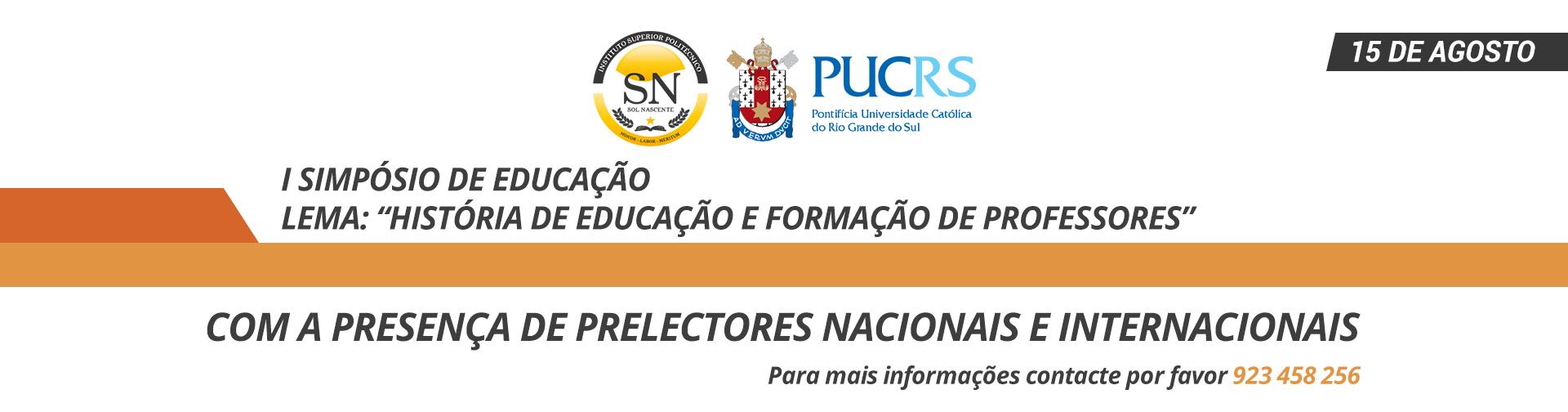 I Simpósio Internacional de Educação