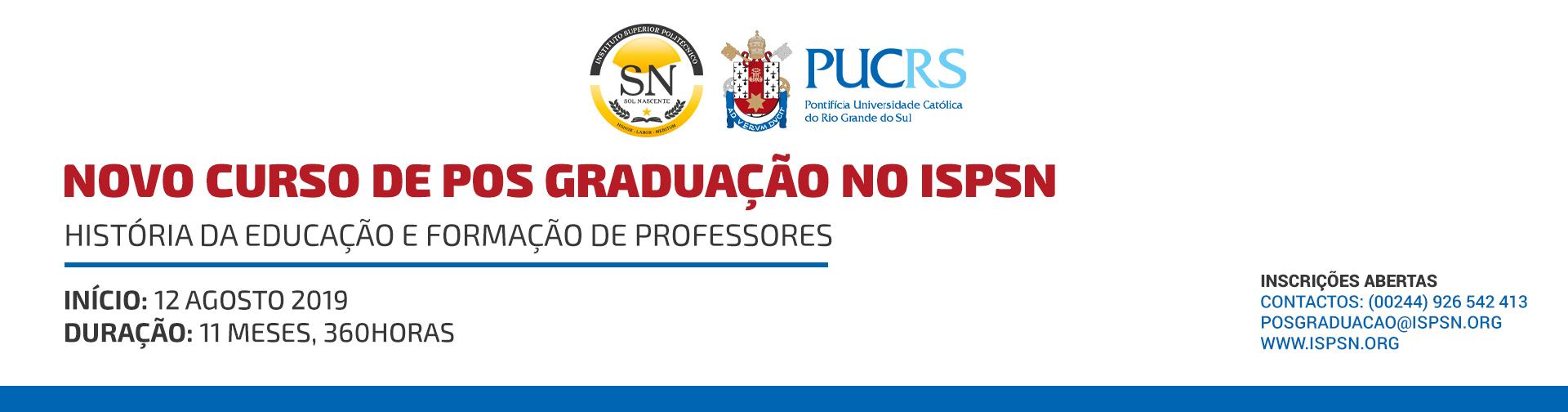 Pós - Graduação em HISTÓRIA DA EDUCAÇÃO E FORMAÇÃO DE PROFESSORES